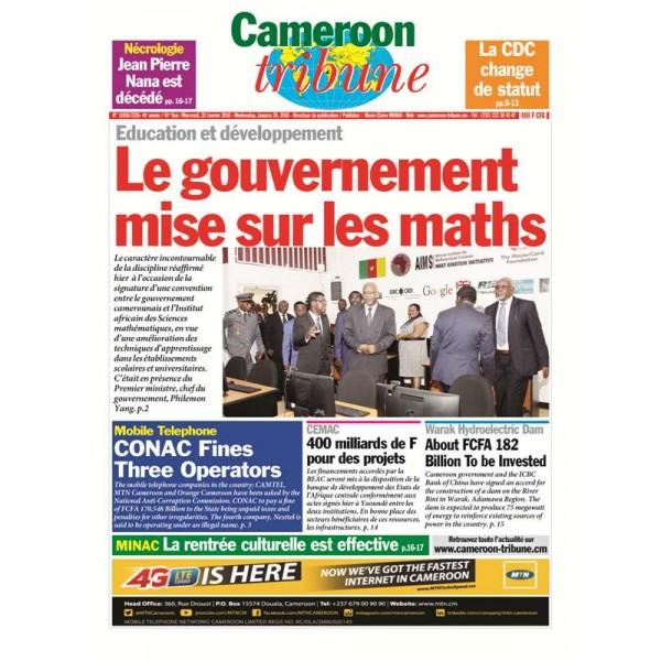 Cameroon Tribune Edition du 20 Janvier 2016