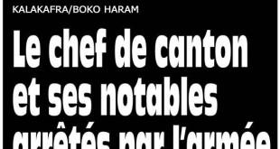 La Une de L'Oeil du Sahel du 25 janvier 2016