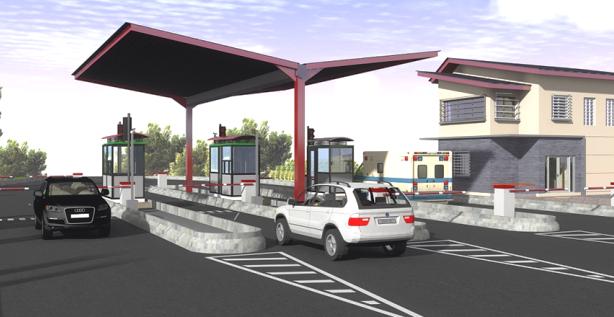 Maquette péage routier automatisé. Crédit photo: Ministère des Travaux Publics