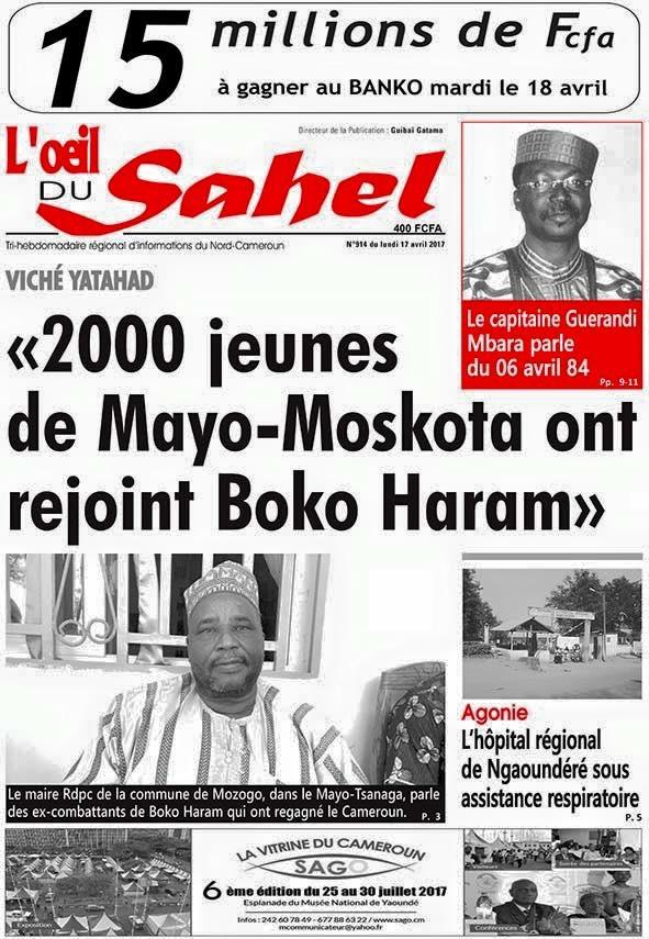 L'œil du Sahel du 17 avril 2017